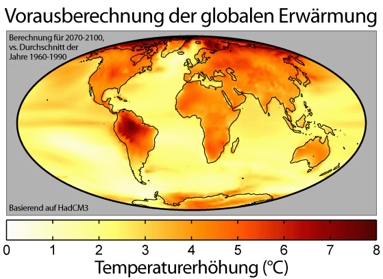 Global Warming Predictions Map 2 German