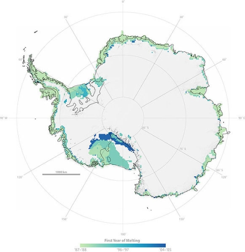 Antarctic Ice Melt First Year